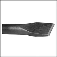 12-12 FLAT CHISEL .580 HEX NON COLLAR 12 IN