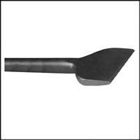 Chipper Chisel 3 inch WIDE 12 inch .680 Round Shank Oval Collar