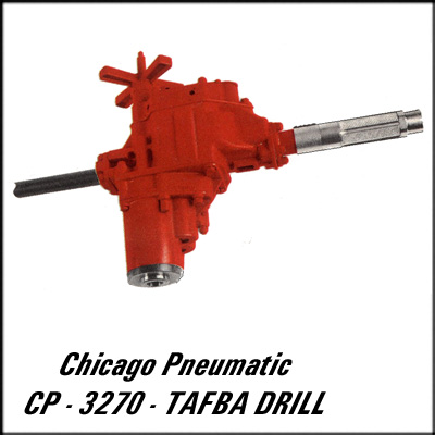 Chicago Pneumatic CP-3270-TAFBA REBUILT DRILL, 3MT 250 RPM