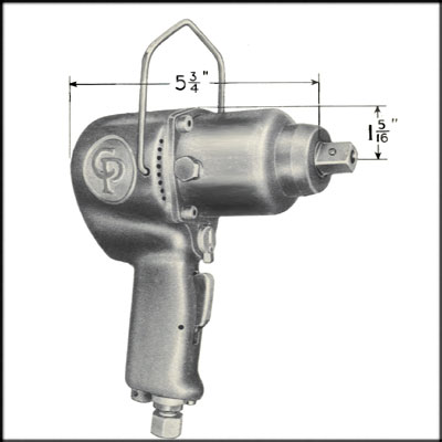 "Chicago Pneumatic CP-3440-RS REBUILT 1/2"" PISTOL IMPACT"