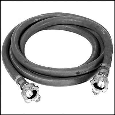 Industrial Grade Air Hose With Fittings. Length:50 ft.;Hose ID:3