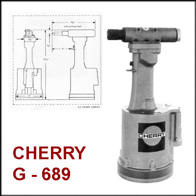 Cherry G689 REBUILT PNEUDRAULIC RIVETER, LESS NOSE ASSEMBLY