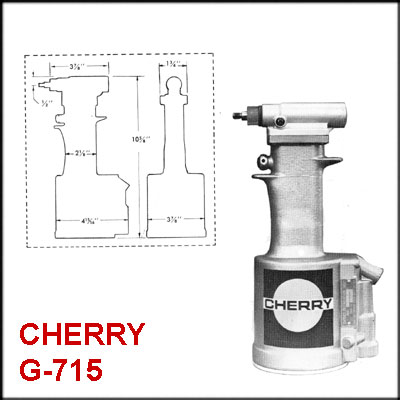 Cherry G715 REBUILT PNEUDRAULIC RIVETER, LESS NOSE ASSEMBLY