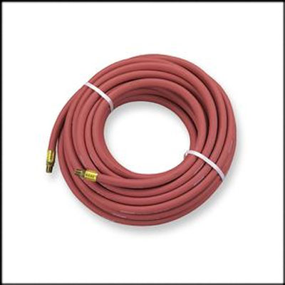 Industrial Grade Air Hose With Fittings 1/2 In x 25 Ft