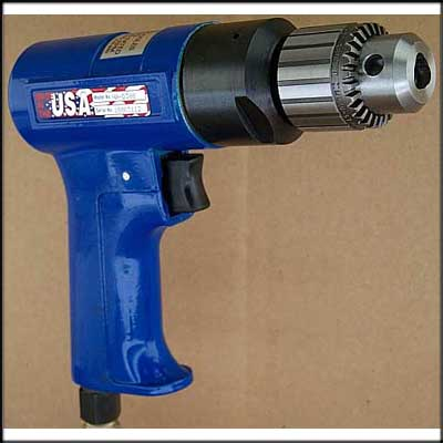 "Vision Air VA-D380 NEW PISTOL DRILL, 3/8"" CAP"