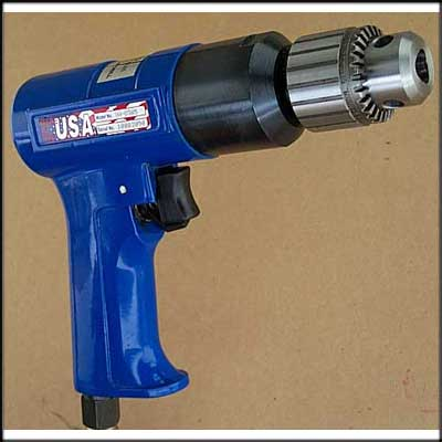 "Vision Air VA-D385 NEW PISTOL DRILL, 3/8"" CAP REV"