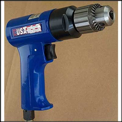 "Vision Air VA-D387 NEW PISTOL DRILL, 3/8"" CAP"