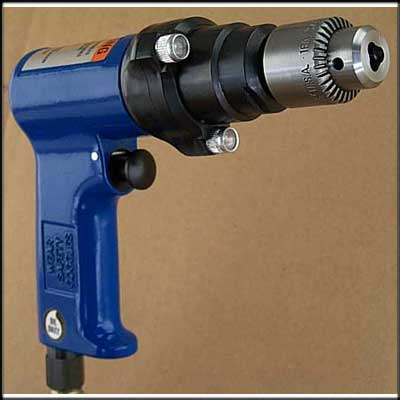 "Vision Air VA-D443 NEW 3/8"" PISTOL DRILL, LIGHTED"