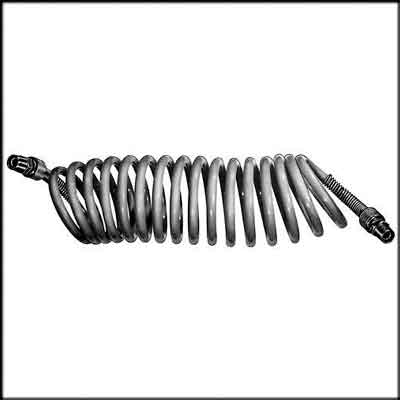 "Self-Storing Coiled Nylon Air Hose. Type:1/4"" Coiled Hose;Length"
